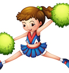 A cheerdancer with a green ponytail and green vector
