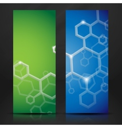Molecule abstract banner vector