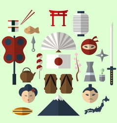 Flat japan icon vector