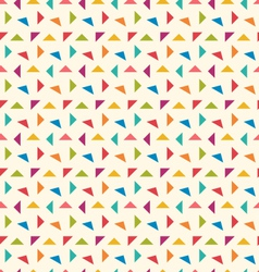 Seamless pattern with colorful geometric objects vector