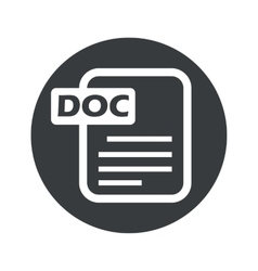 Monochrome round doc file icon vector