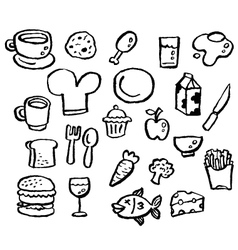 Doodle series - food vector