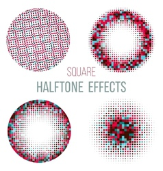Colorful halftone circles vector