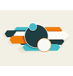 Abstract arrows and circles can be used for vector