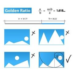 Golden ratiogolden proportion vector