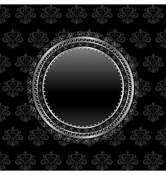Heraldic circle shield vector