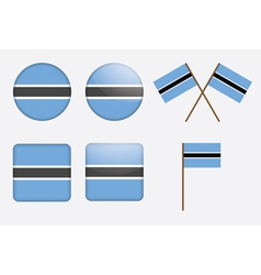 Badges with flag of botswana vector
