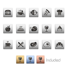 Food icons 1 vector