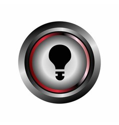 Light bulb sign button vector