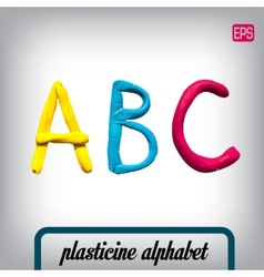 Plasticine alphabet on a background vector