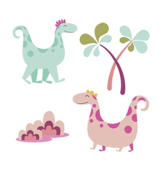 Dinosaurus cartoon characters vector