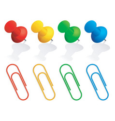 Pins and paper clips vector