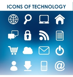 Icons of technology vector