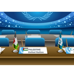 Palestine candidate for the seat on united nation vector