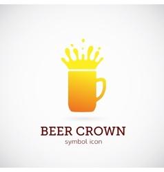 Beer crown concept symbol icon or logo template vector