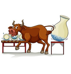 A bull in a china shop vector