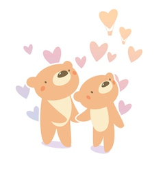 Bears in love vector
