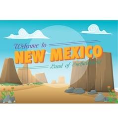 New mexico postcard vector