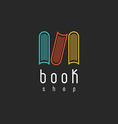 Book shop logo mockup of sign literature store vector