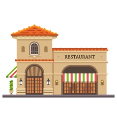 Restaurant building vector