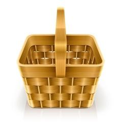 Wooden weave basket vector