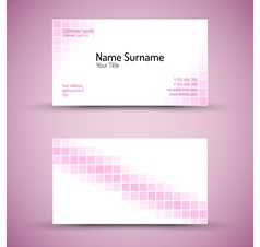 Business card squares vector