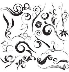 Floral graphic elements vector