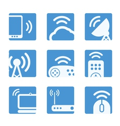 Wireless equipment buttons vector