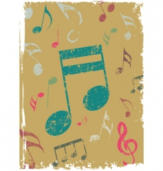 Grunge background with tunes vector