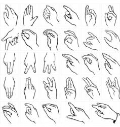 Sign language vector