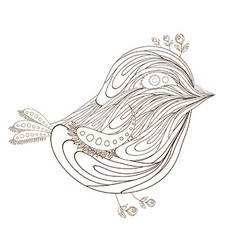 Bird florals hand drawn vector