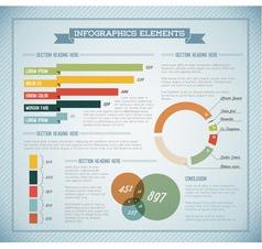 Infographics retro blue vector