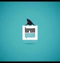 Shark of business company logo template vector