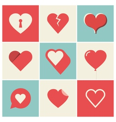Heart icons set two vector