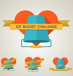 Flat concept for ice bucket challenge vector
