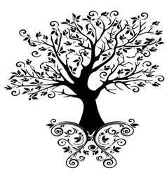 Tree with ornaments vector