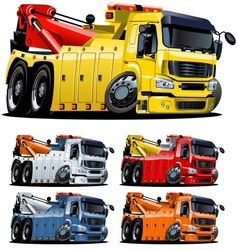 Cartoon tow truck one-click repaint vector