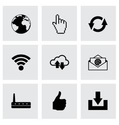 Internet icon set vector