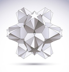3d origami abstract object abstract design element vector