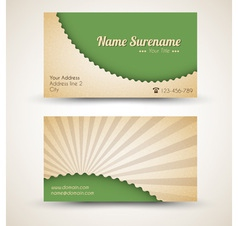 Retro business card vector