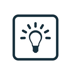 Idea icon rounded squares button vector