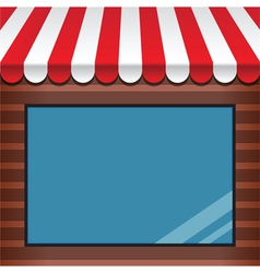 Storefront with awning vector