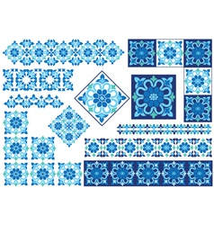 Blue decorative design element vector