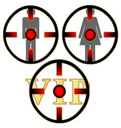 Gunpoint set vector