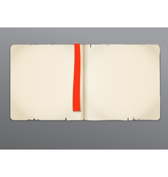 Old opened book vector