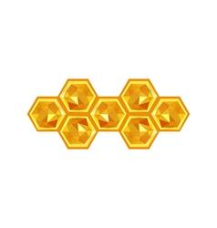 Origami honeycomb vector