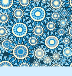 Abstract pattern with circles on a blue background vector