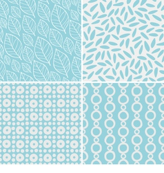 Abstract and floral seamless patterns vector