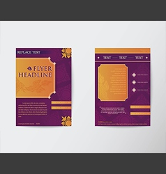 Abstract brochure flyer thai style template in a4 vector