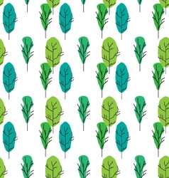 Seamless tree pattern background vector